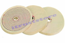 "3 PC 8"" INCH BUFFING BUFF SOFT POLISHING BUFFER POLISH WHEELS FOR BENCH GRINDER"