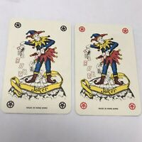 Vintage Joker Double Single Trade Swap Playing Card Collectible ephemera