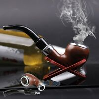Filtering Solid Wood Wooden Smoking Pipe Tobacco Cigarettes Cigar Pipes Gift