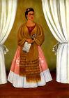 Frida Kahlo Self-Portrait dedicated to Trotsky canvas print giclee 8X12&12X17