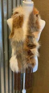 Vintage Marcella Danan (Neiman Marcus) Natural Fox Fur Scarf