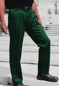 GREEN TROUSERS - Spruce Green drivers golf British Workwear Reg & Tall fit -TR61