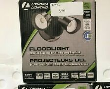 Lithonia Lighting 20-Watt Integrated Led Bronze Dusk to Dawn Flood Light