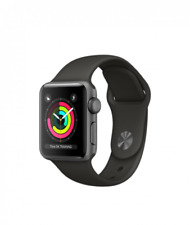 Nuovo Brand New Apple Watch Series 3 38mm Gray With Gray Sport Band MQ352