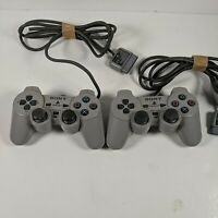 2 x PS1 Sony PlayStation PSOne Controllers FAULTY SPARES REPAIR ONLY #1