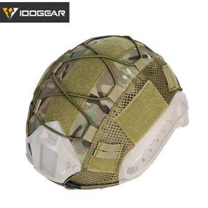 IDOGEAR Tactical Helmet Cover for FAST Helmet Camo Hunting Airsoft Headwear Gear