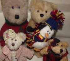 Boyds Plush Teddy Bear LOT OF 4 ~ Jointed ~ 1 with Penguin