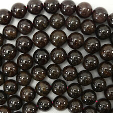 "8mm red garnet round beads 15.5"" strand"