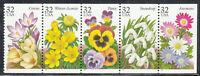 Scott#: 3025-3029 - Garden Flowers Issue Strip of Five MNH OG
