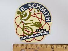 OLD SCHOOL BMX BRIAN SCHMITH TEAM MONGOOSE STICKER DECAL 1990s NOS RARE