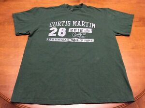 New York Jets Curtis Martin Green 2012 Hall Of Fame Shirt Adult Large