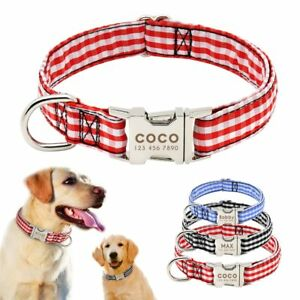 Personalized Nylon Dog Collars  Pet Dogs ID Collars for Small Medium Large Dog