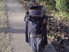 """Bag Boy 10"""" Lightweight Canvas Blue/Tan Staff or Cart Golf Bag"""