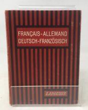Vintage Français- Allemand Deutsch- Franzosisch Pocket Dictionary 1932
