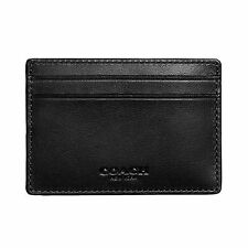 Coach Mens Money Clip Card Case in sport calf leather F75459 Black