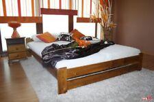 King Size 5ft Bed Frame Solid Pine Wood - oak colour
