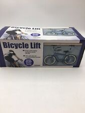 bike lift 95803 bicycle storage system pulleys rope garage ceiling wall holder