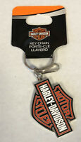 Harley-Davidson Bar & Shield Enamel Metal Key Chain Plasticolor NEW
