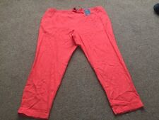 M&s Linen Blend PEG Pants Trousers Size 22 Regular Bnwt Free Sameday Postage