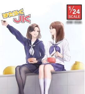 1/24 Resin Figure Model Kit Modern Japanese Girls Unpainted Unassambled
