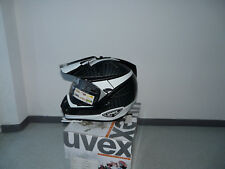 Motorradhelm Integralhelm Crosshelm Uvex Enduro3 in 1 schwarz-weiss-shiny Gr L