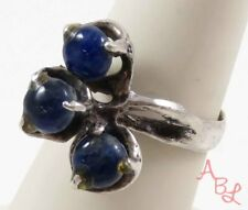 Sterling Silver Vintage 925 Mexican Handmade Lapis Ring Sz 7 (4.8g) - 745126