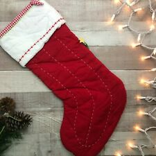 """NWT Pottery Barn Kids Quilted Stocking Train Red """"Waylon"""""""