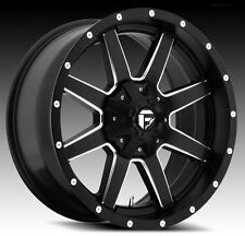 20x10 Fuel Maverick D538 Rims Black Offroad Wheels Fit Lifted Chevy Ford GMC 22