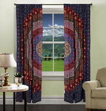 Mandala Indische handgefertigte Boho Vorhänge Fenster Vorhang Indische Dekor