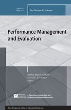 Performance Management and Evaluation: New Directions for Evaluation, Number 13
