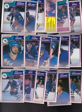 1983 - 84 OPC Team SET Lot of 18 NY RANGERS NM+ o-pee-chee PAVELICH HEDBERG BECK