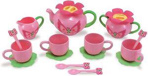 Melissa & Doug Sunny Patch Bella Butterfly Tea Set(15 pcs) Play Food Accessories
