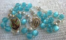 Chaplet Rosary of Saint Michael Archangel Blue Beads 15 inc.