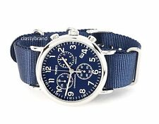 Timex TW2P71300 Weekender Chronograph Blue Dial, Blue Strap Men's Watch - NEW