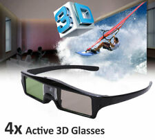 4x Rechargeable 3D Glasses Active Shutter For DLP-LINK Projector Sony Samsung TV