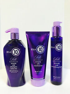 ITS IT'S A 10 SILK EXPRESS MIRACLE SILK SHAMPOO,CONDITIONER & BALM TRIO SET