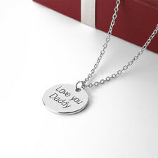 Alloy Love You Daddy Charm Pendant Fashion Jewelry Necklace Father's Gift