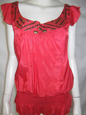 TEMT Womens Short sleeve Watermelon top with Beads & Sequins size 10 - BNWT