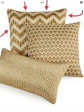 """NWD $110 Hotel Collection Mosaic 18"""" Square Decorative Pillow Chevron #3"""