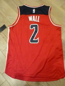 NWT Fanatics Brand Washington Wizards #2 John Wall Red Screen Print Jersey (M)