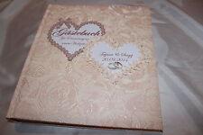 Hardcover Gästebuch zur Hochzeit , apricot