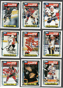 1992-93 TOPPS SUPER ROOKIE LOT OF 9 LIDSTROM BURE AMONTE +++++