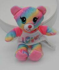 Build A Bear Workshop Mini Rainbow Tie-Dyed Bear Plush Toy With LOVE Shirt
