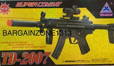 Kids Assault Rifle Toy Swat Gun Light Sound Vibration SUPER COMBAT TD-2007
