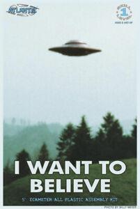 """I Want Pour Believe UFO Volant Soucoupe 5 """" Plastique Kit W Feux X-Files 181AT05"""