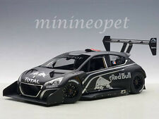 AUTOart 81353 PEUGEOT 208 T16 PIKES PEAK PRESENTATION 1/18 MODEL CAR BLACK