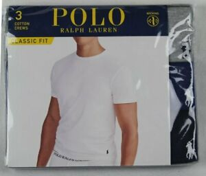 Ralph Lauren Polo 3 pack Grey Blue Navy Classic Crewneck T-shirts Tee NWT