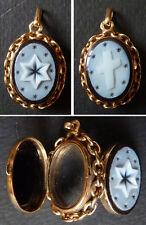Pendentif porte photo reliquaire 19e en OR massif gold pendant reliquary