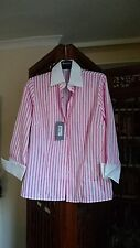 T.M.Lewin Striped Collared Long Sleeve Women's Tops & Shirts