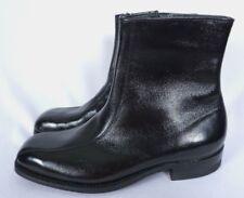 VTG NOS Mason Shoe Mens Zip Up Patent Leather Ankle BOHO Black Boots Sz 8.5 D